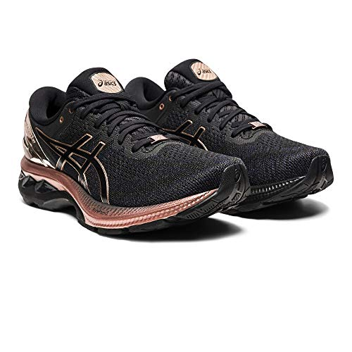 Asics Gel-Kayano 27 Platinum, Road Running Shoe Mujer, Black/Rose Gold, 39.5 EU