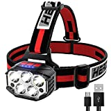 LED Headlamp Rechargeable, 1100Lumen Super Bright Head lamp Flashlight with Red Light, 14 Modes...