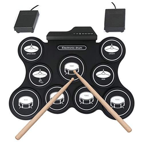 NINI La percusión de Silicona batería electrónica USB Puede Tocar Rock, Latino, Estilos Populares, electrónicos y de Otro Tipo de batería electrónica de Sonido realistas