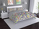 Toopeek Herseshoe Hotel Luxury Bed Linen Lucky-Charms-Ladybird Poliéster - Suave y transpirable (Queen)