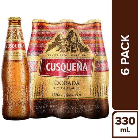 6-Pack Cerveza Premium CUSQUEÑA Golden Lager