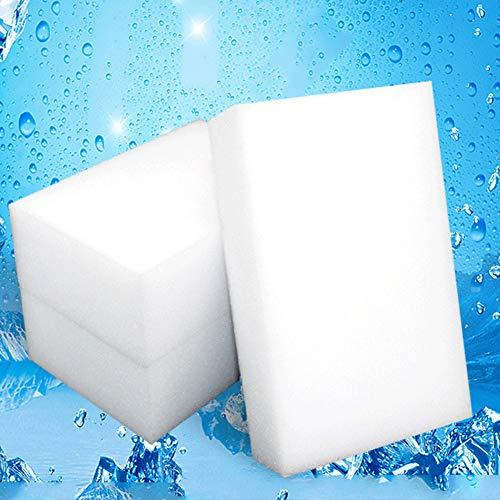 FOReverweihuajz 100 Stks Sponge Borstel Bowel Vlek Verwijdering Scrubber Keuken Schoonmaken Wasmiddelen