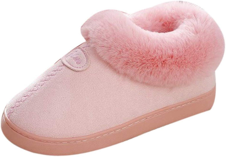 Women Winter Warm Home Slippers Solid color Indoor shoes Men Non-Slip Bedroom Floor Boots