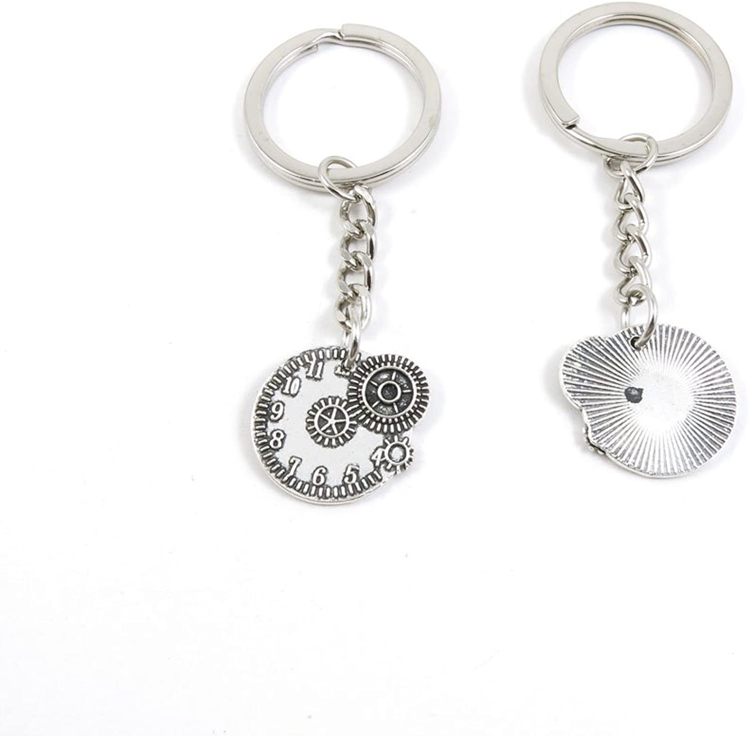 170 Pieces Fashion Jewelry Keyring Keychain Door Car Key Tag Ring Chain Supplier Supply Wholesale Bulk Lots D3GZ7 Gear Wheel Movement