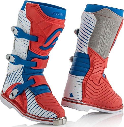 Acerbis Shark-Stiefel für Kinder, Rot/Blau, Größe 33