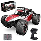 【Quality and Durable Material】 The whole chassis of the remote control car is made of ABS plastic and the main body is made of alloy material which ensures it has strong collision resistance and a strong shockproof body that won't break if it falls f...