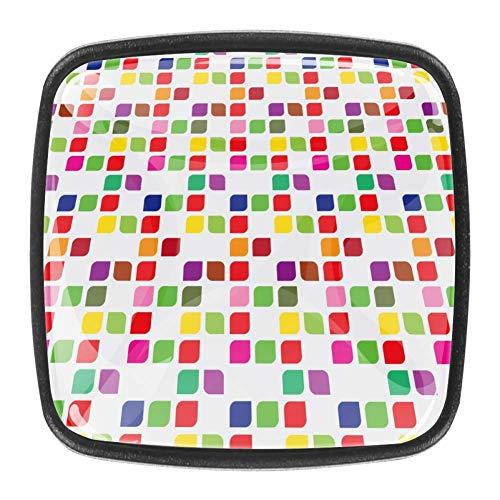 Perillas del gabinete del cajón del tocador Perillas de cristal Tiradores para cocina Armario Armario Armario de baño 4 piezas Color Bauhaus