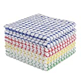Oeleky Dish Cloths for Kitchen Washing Dishes, Super Absorbent Dish Rags, Cotton Terry Cleaning Cloths Pack of 8, 12x12...