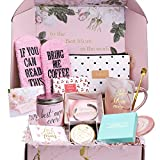 Gift Basket for Mom, Birthday Gifts for Best Mom, Women, Wife, Mother in Law, New Mom. Christmas Gift, Mom Gifts for Mothers Day-Includes Candle, Coffee Mug, Bracelet, Ring Dish,Coffee Socks
