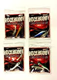 4 Assorted Micro Hokki LRF (Light Rock Fishing) Jigs With Shrouded Assist Hook To Braid / 5gr