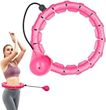 reakoo Smart Hula Hoop voor gewichtsvermindering, smart fitnessbanden die niet vallen, 24 gearticuleerde fitnessbanden kun...