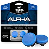 KontrolFreek Alpha 青 for PlayStation 4 (PS4) and PlayStation 5 (PS5) | Performance Thumbsticks | 2 Low-Rise Concave | Blue