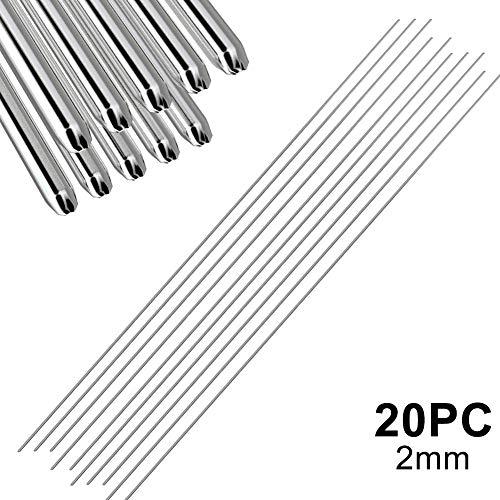 Crewell Easy Aluminium-Schweißstäbe, niedrige Temperatur, 5, 10, 20, 50 Stück, 1,6 mm, 2 mm, kein Lötpulver erforderlich
