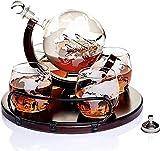 HHORB Decantatore di Whisky Nobile con Bicchieri di Whisky Set Fatto A Mano | Decanter Whisky con Bella Confezione Regalo Chiusura Ermetica 750 ML