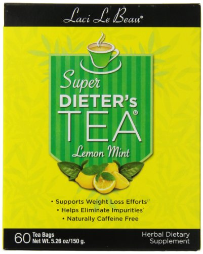 Laci Le Beau Super Dieter's Tea, Lemon Mint, 120 Count