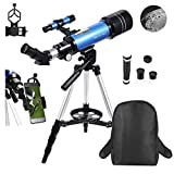 Best Kids Telescopes - MaxUSee 70mm Refractor Telescope for Kids & Beginners Review
