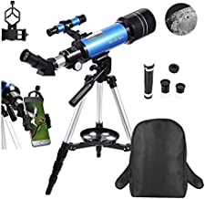 MaxUSee 70mm Refractor Telescope for Kids & Beginners, Travel Telescope with Backpack & Adjustable Tripod for Moon Viewing Bird Watching Sightseeing
