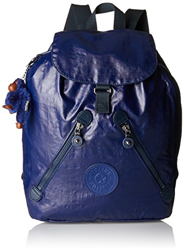Kipling Damen FUNDAMENTAL Rucksack, Blau (Lacquer Indigo), 42x42x16.5 cm