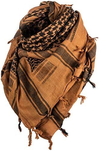 Texas Bushcraft Tactical Shemagh Authentic Keffiyeh 100 Cotton for your Camping Hiking and Backpacking product image