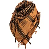 Texas Bushcraft Tactical Shemagh - Authentic Keffiyeh 100% Cotton for your Camping, Hiking and Backpacking Gear(Coyote Brown)