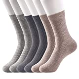 Womens Crew Socks Cotton 6 Pack Thin High Ankle Socks for Women Rib Knit Dress Socks Business Work -  JOYOUS LUCKY