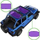 Alien Sunshade Jeep Wrangler JLU (2018-2021) – Front & Rear Mesh Sun Shade for Jeep JL Unlimited - Blocks UV, Wind, Noise - Bikini JLkini Top Cover for Sport, Sport S, Sahara, Rubicon (Purple)