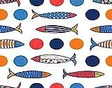 Y·JIANG Bonita pintura por números, sardinas de peces y lunares DIY lienzo acrílico pintura al óleo por números para adultos niños decoración de pared del hogar, 40,6 x 50,8 cm