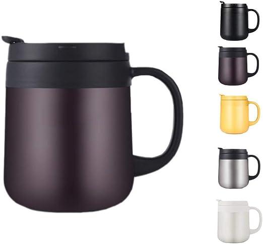 Loiofoe 0.34L Taza Térmica Taza de café con Aislamiento de Acero Inoxidable  de Acero Inoxidable - Taza de café Termo con Aislamiento al vacío (Marrón):  Amazon.es: Hogar