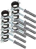 KOTARBAU® 10er Set Rohrschelle 3/4' mit Gummieinlage Vibrationsdämmend Rohrhalter Schraubrohrschelle Rohrbefestigung Rohrhalterung für Kanäle Rundleitungen Lüftungskanäle