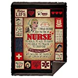 Gift I was Born to Be A Nurse to Hold to Aid to Save Fleece Blanket - Mink Sherpa Blanket - Woven Blanket, One Size, Woven Blanket - 60x80 / White