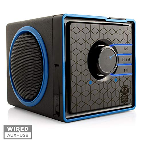 Fantastic Deal! GOgroove SonaVERSE BX Portable Speaker with USB Music Player - Cube Speaker with USB...