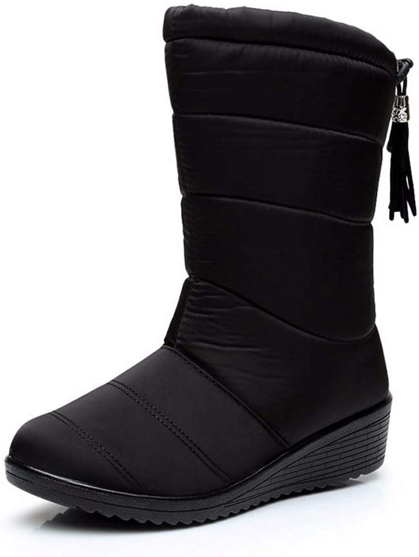T-JULY 2018 New Women Boots Winter Women Ankle Boots Waterproof Non-Slip Warm Snow Boots Women shoes Warm Fur Botas