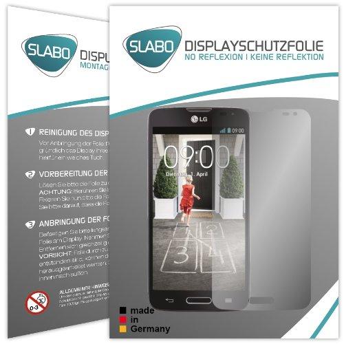 Slabo 2 x Bildschirmschutzfolie LG L90 Bildschirmschutz Schutzfolie Folie No Reflexion|Keine Reflektion MATT - Entspiegelnd MADE IN GERMANY