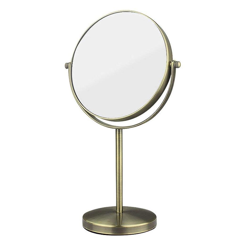 決して眉何十人も化粧鏡両面HD金属3x倍率バスルームデスクトップバニティミラーシェービングミラー360°;ローテーションプリンセスミラートラベルポータブル