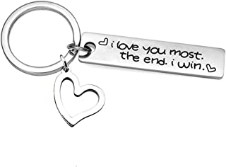 i love you keychain with date