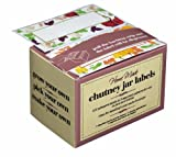 Kitchen Craft KCHMCHUTLAB Caja de Etiquetas Adhesivas para Mermelada o conservas, cartón, Color Mezclado