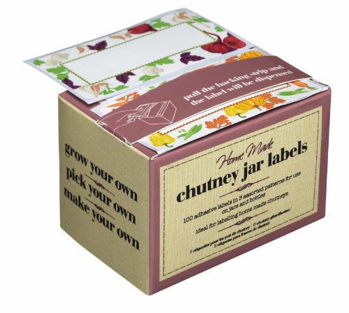 Kitchen Craft - Caja de etiquetas adhesivas para mermelada o conservas (en inglés),100 unidades