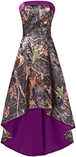 camo and purple wedding dress