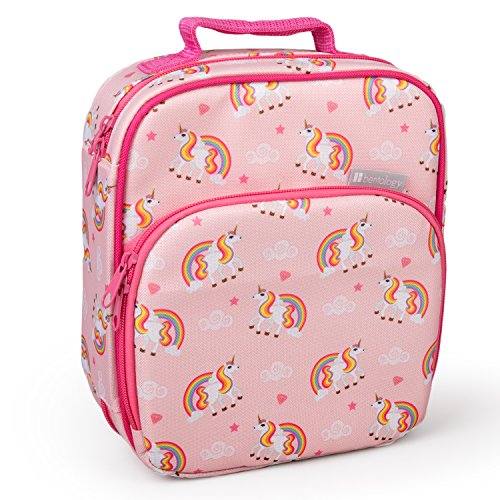 Bentology Lunch Box for Kids - Girls and Boys Insulated Lunchbox Bag Tote - Fits Bento Boxes - Unicorn