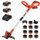 PAXCESS Cordless String Trimmer/Edger, 20V 10-Inch Weed Eater with 2Pcs 1.50Ah Batteries, 1Pcs...