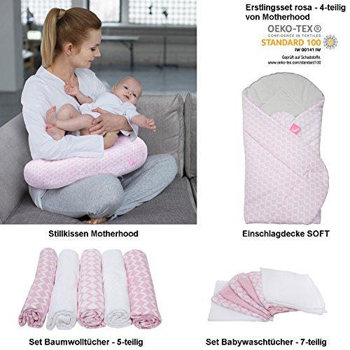 erstlings Motherhood/bébé cadeau de naissance, certifié Öko-Tex Standard – comprenant : Coussin d'allaitement/Nid + Nid d'ange Soft + Kit serviettes en coton (5 pièces) + wachtücher (7 pièces)