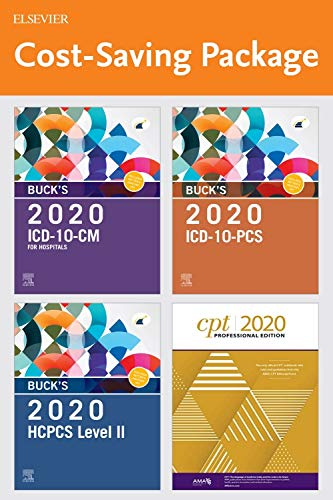 Buck's 2020 ICD-10-CM Hospital Edition, Buck's 2020 ICD-10-PCs Edition, 2020 HCPCS Professional Edition and AMA 2020 CPT Professional Edition Package