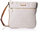 Michael Kors Women's Flat Crossbody, Vanilla, One Size