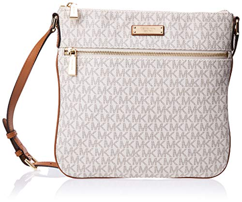 Michael Kors Bedford Signature Flat Cross-Body Bag - Vanilla - 32S7GBFC2V-150