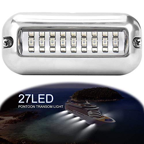 LemonBest Luces LED a Prueba de Agua para Barcos, luz de Espejo de Acero Inoxidable para Barcos Accesorios de embarcaciones Marinas a Prueba de Agua (Blanco)