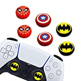 6Pcs Analog Thumb Grip Stick Cover, Dualsense Wireless Controllers Game Remote Joystick Cap, Fantastic Non-Slip Silicone Handle Protection Cover for PS5/PS4/Xbox one/360/Nintendo Switch PRO