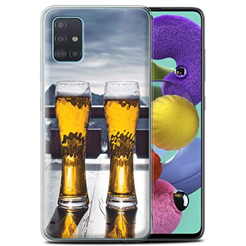 Stuff4 Phone Case/Cover/Skin/SG-GC/Skiing/Snowboarding Collection Samsung Galaxy A51 2020 Skihütte/bier