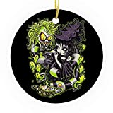 Bynight Tree Ornament Beetlejuices Lydia Besdie Sandworms Betelgeuse Ghost Clipart Film Comedy Christmas Ornaments for Home Decoration Kit Outdoor/Indoor Plastic Round 1pc/Pack