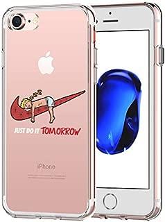 iPhone 7 CASE,iPhone 8 CASE, Nike Just Do it Tomorrow Spoof Parody 3D Printed Cartoon Design Soft Clear TPU Cute Funny Case