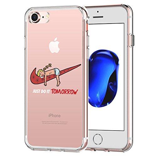 best website 97569 05e17 iPhone 7 CASE,iPhone 8 CASE, Nike Just Do it Tomorrow Spoof Parody 3D  Printed Cartoon Design Soft Clear TPU Cute Funny Case